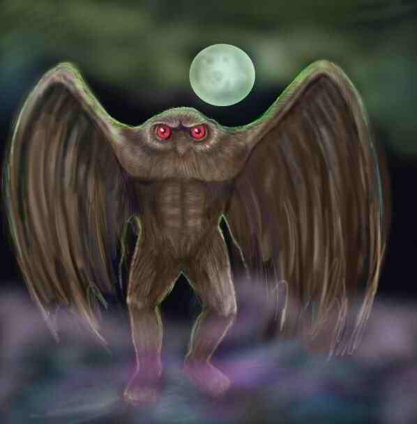 Il Mothman o uomo falena