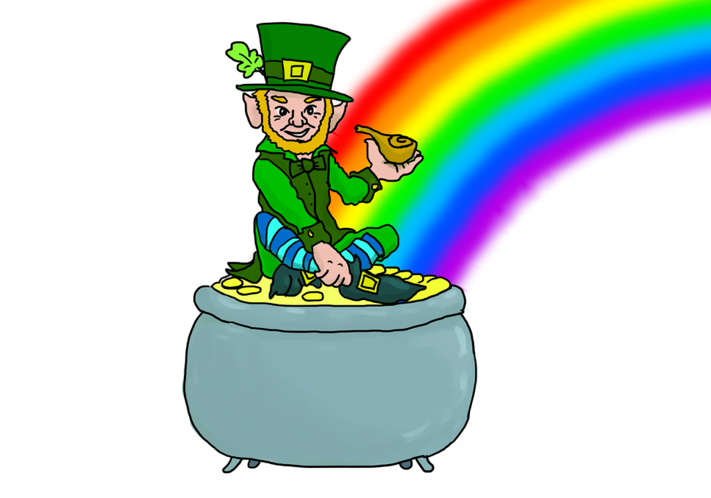 Il Leprechaun folletto leggendario irlandese.